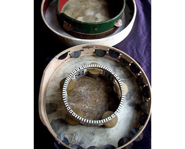 Frame Drums With Cymbals